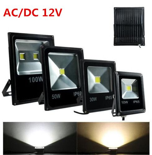 DC 12 v 20 watt 50 stücke, 50 watt 30 stücke LED Flutlicht Lampe Warm/Kalt weiß RGB Im Freien Wasserdichte LED Flutlicht Straße Licht