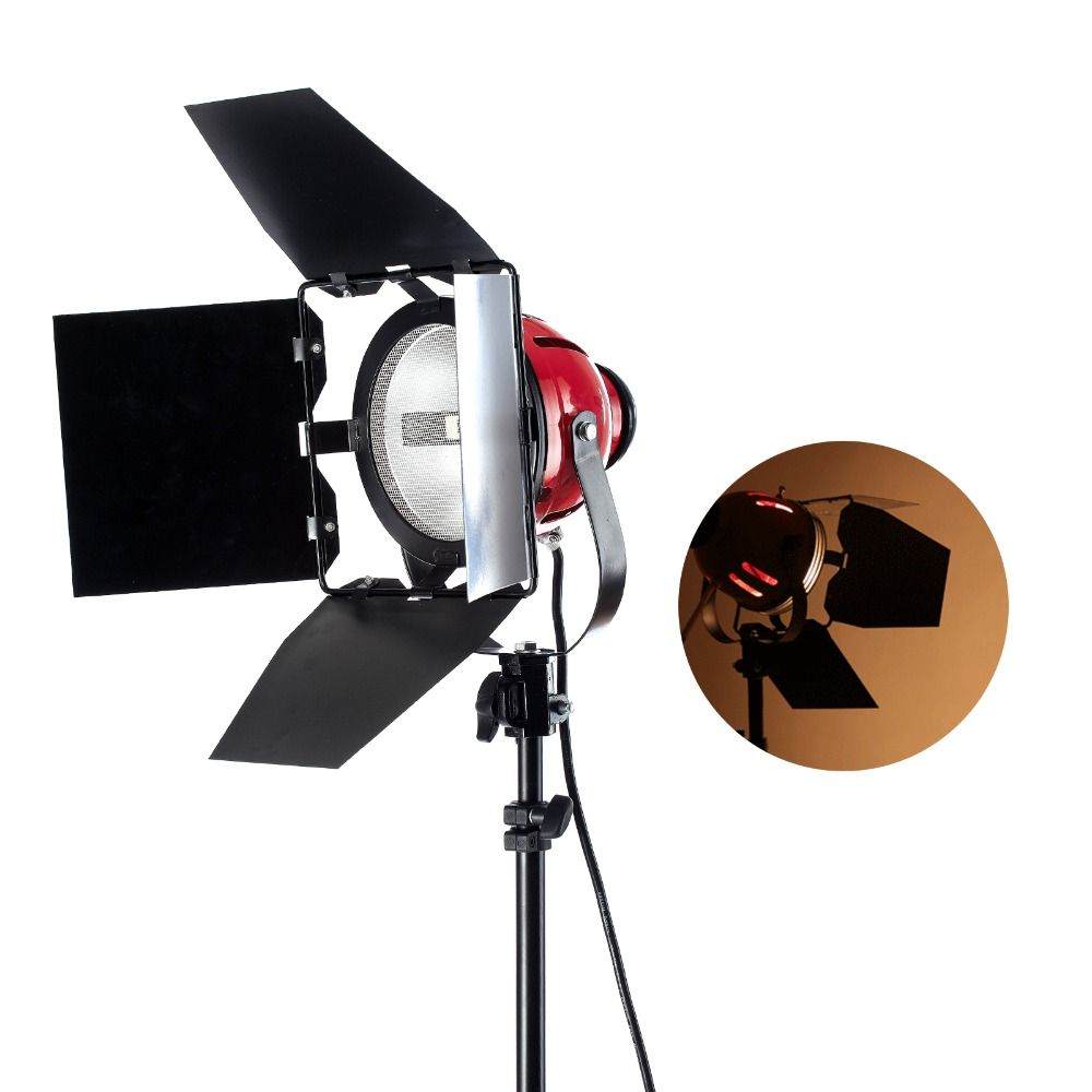 Selens Photo Studio Redhead Light with Brightness Dimmer 800w 220V / 110v For Filming Studio Continuous Lighting