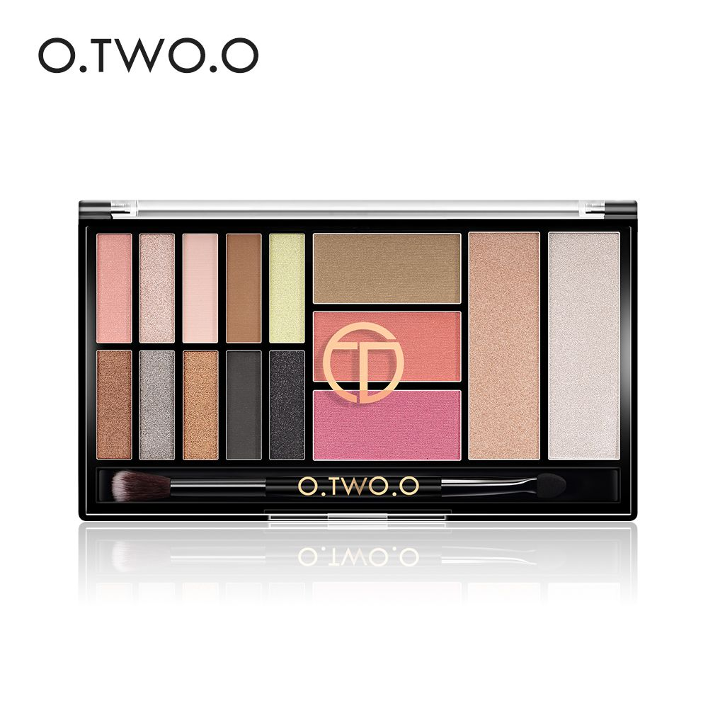 O. TWO. O 15 couleurs Palette de fard à paupières mat Palette ombre à paupières Pigment paillettes maquillage Palettes de fard à paupières ombres nues