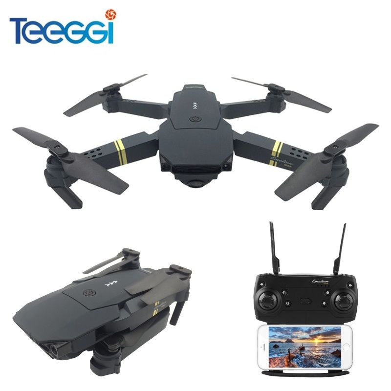 Teeggi M68 FPV RC Drone With Wide Angle HD Camera High Hold Mode Foldable Quadcopter Helicopter VS Eachine E58 VISUO XS809HW
