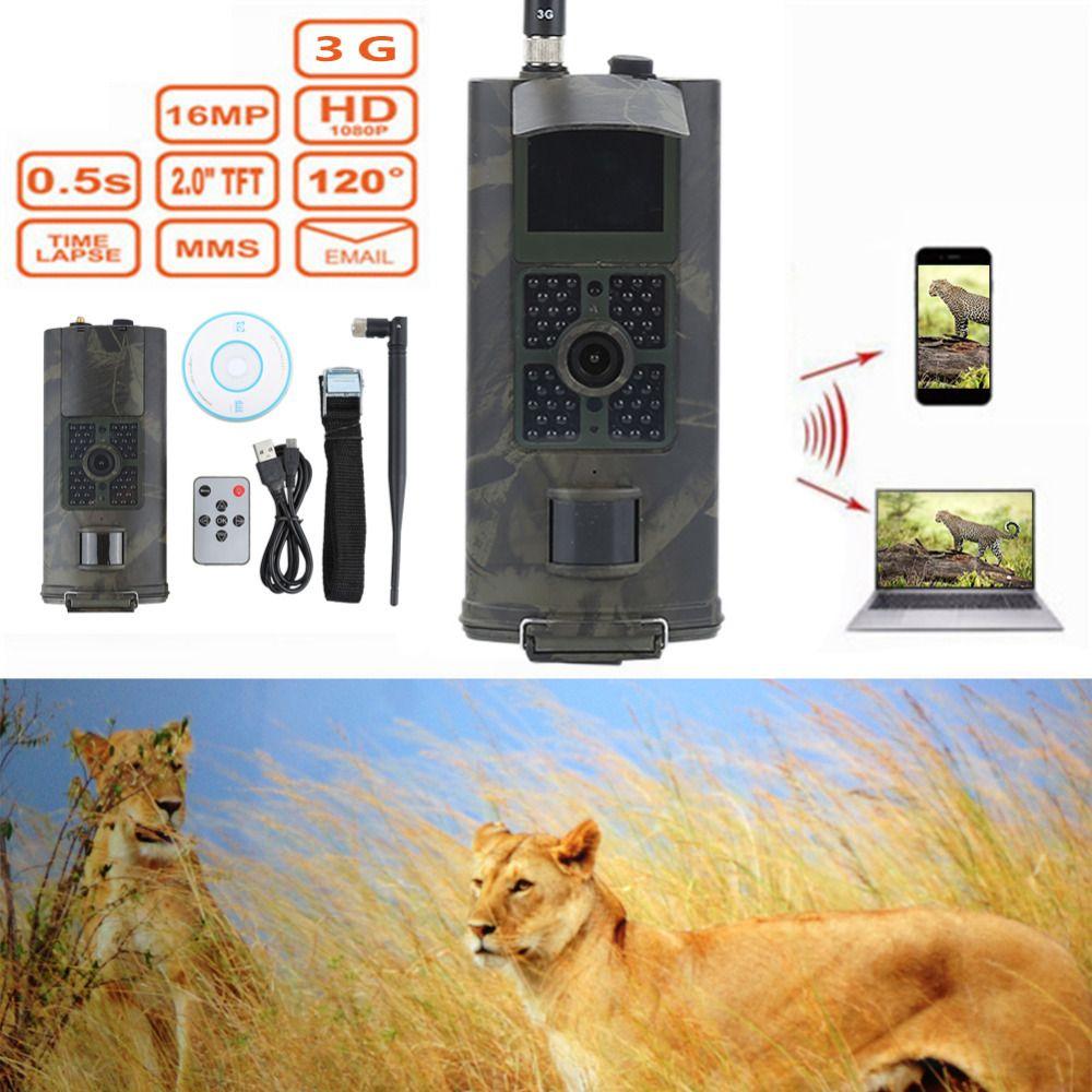 HC700G 940NM Infrarotjagdkamera 3G GPRS MMS SMTP SMS 16MP 1080 P 120 Grad PIR Tierwelt Nacht Vision Trail Kameras falle