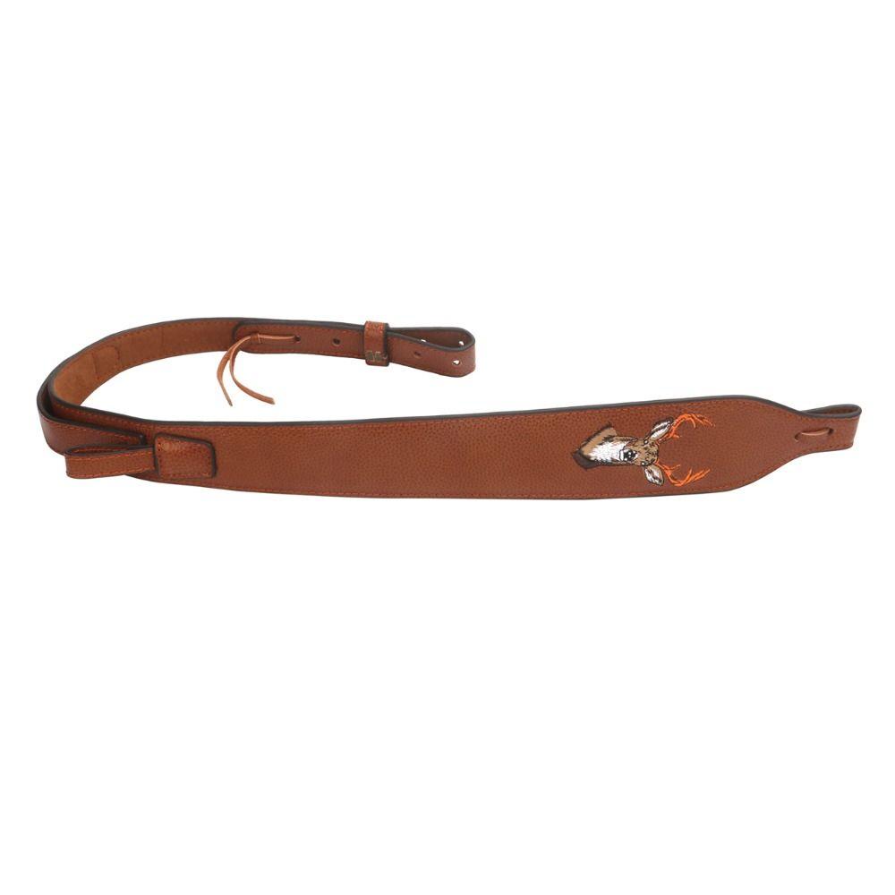 Tourbon Vintage Chasse Rifle Sling Véritable Fusil De Chasse En Cuir Bandoulière Gun Sacoche Ceinture Réglable 86-100 cm Gun Accessoires