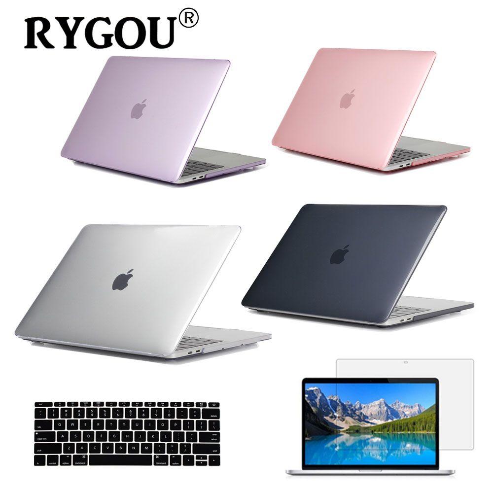 Étui rigide transparent pour Apple Macbook Air Pro Retina 11 12 13 15 pouces étuis pour ordinateur portable pour Mac Book 11.6 13.3 15.4 pouces