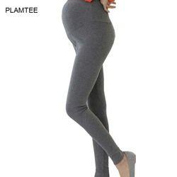 2017 Printemps Vêtements Pantalon Soins De Maternité Du Ventre Leggings pour les Femmes Enceintes Plus La Taille Solide Hamile Giyim Mince Pantalon Gestante 6 Couleur