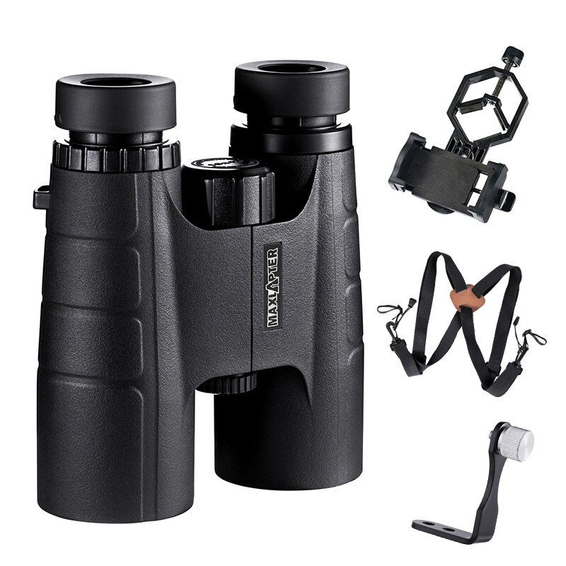 MAXLAPTER Binoculars Telescope 10x42 Hunting Tool Portable Light Weight Binoculo BAK4 Prism Optical For Adults Kids