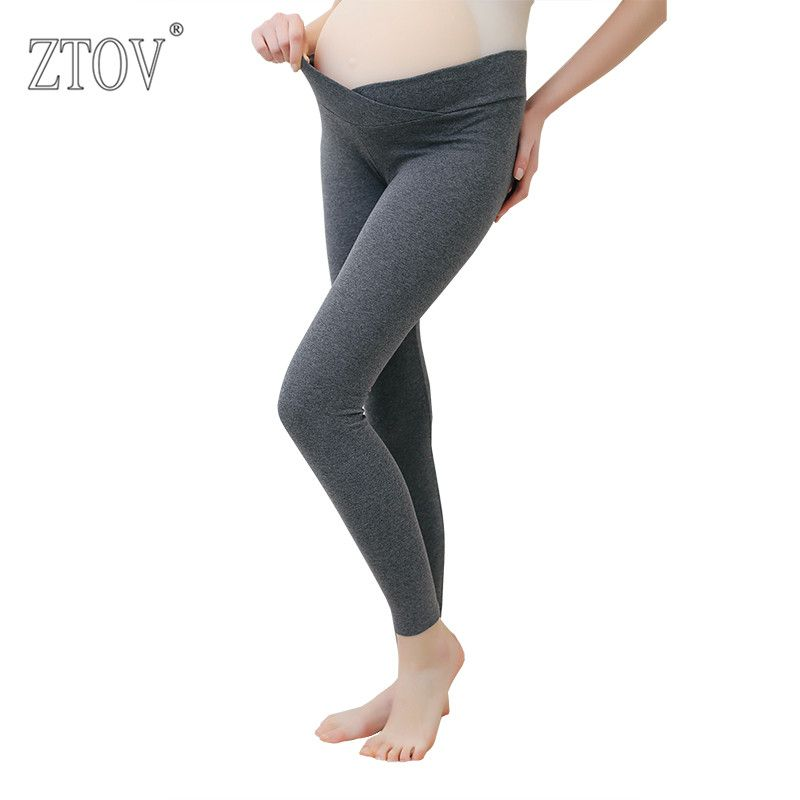 ZTOV 2017 Spring Maternity Leggings Low Waist Pregnancy Belly Pants For Pregnant women Maternity <font><b>Thin</b></font> Trousers Clothes Leggings