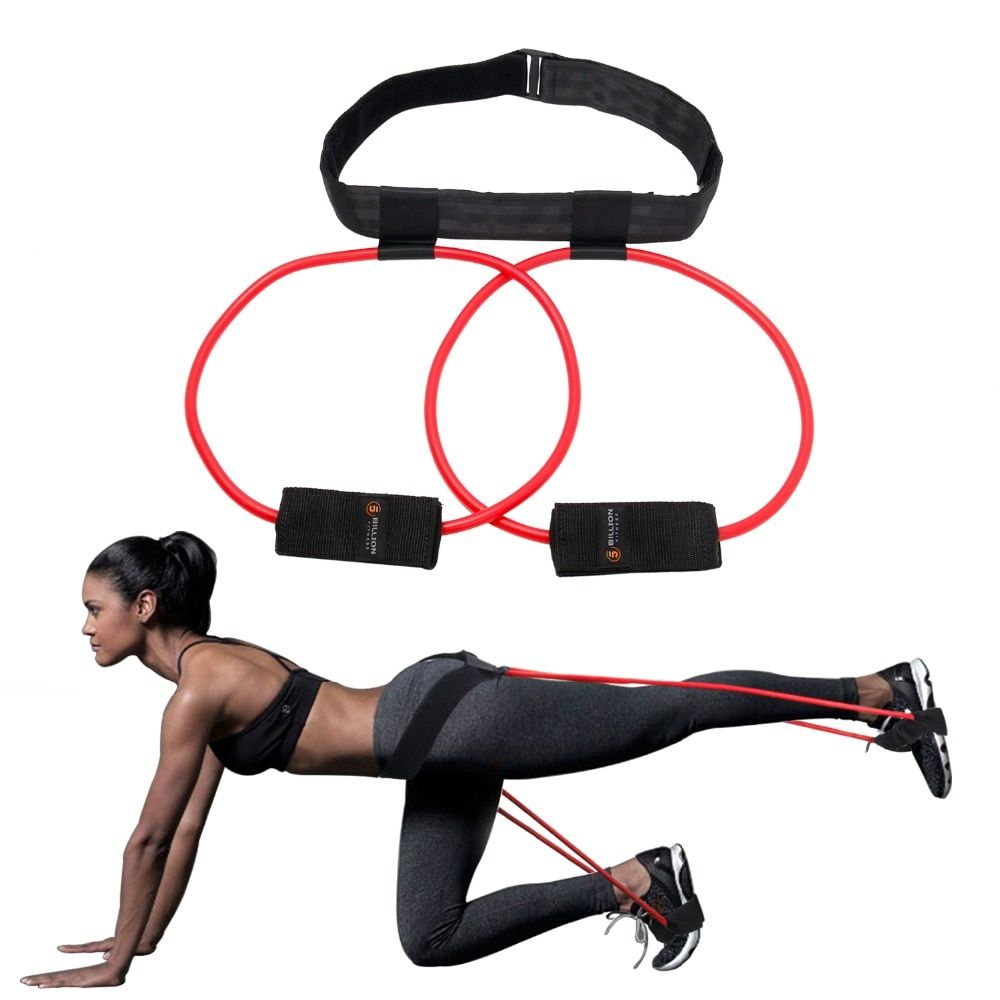 Booty Bands Set Resistance Bands For A Bikini Butt Glutes Muscle Waist Belt Adjustable Workout With Carry Bag And A Full Guide