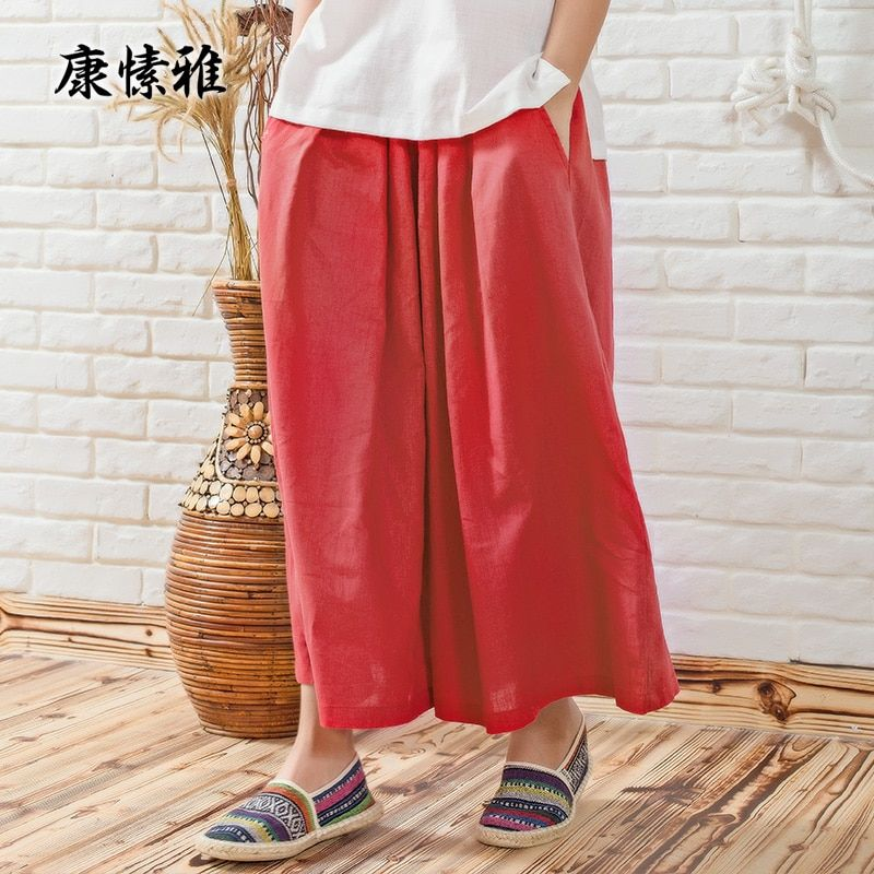 KSUA Zen Meditation Clothing Large Size Yoga Pants Trousers For Women's Yoga Wide leg Pants Ropa Deportiva Mujer Gym Trousers