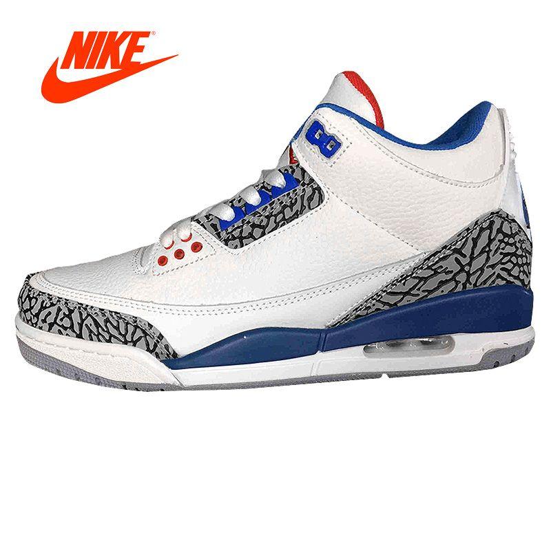 Original New Arrival Official NIKE Air Jordan 3 Retro Sport Men Basketball Shoes Comfortable Breathable Cushion Sneakers Sport