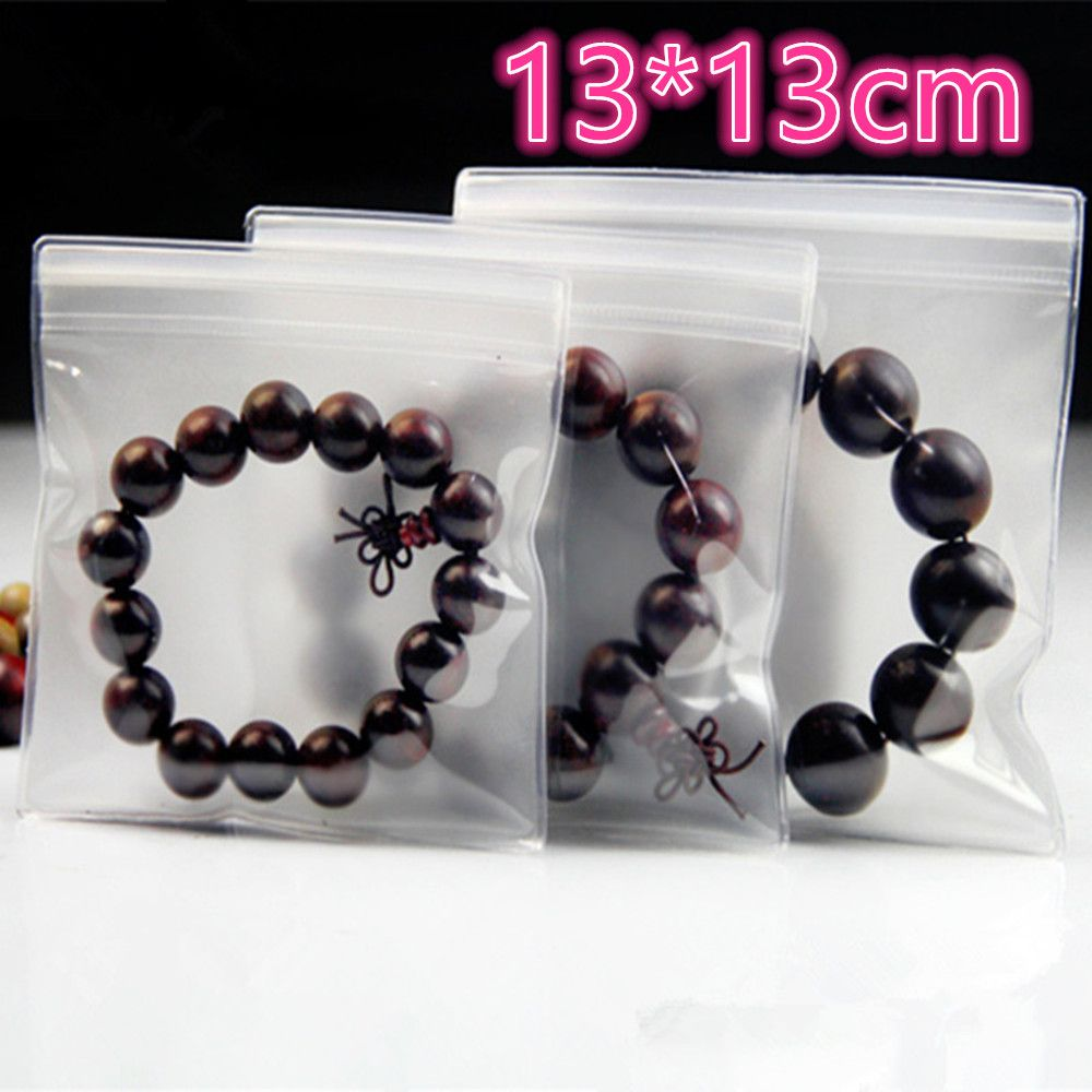 DHL 13*13cm Jewelry Anti-oxidation Ziplock Clear EVA Material Plastic Event Bag Zipper Lock Jewelry Reclosable Package Pouch