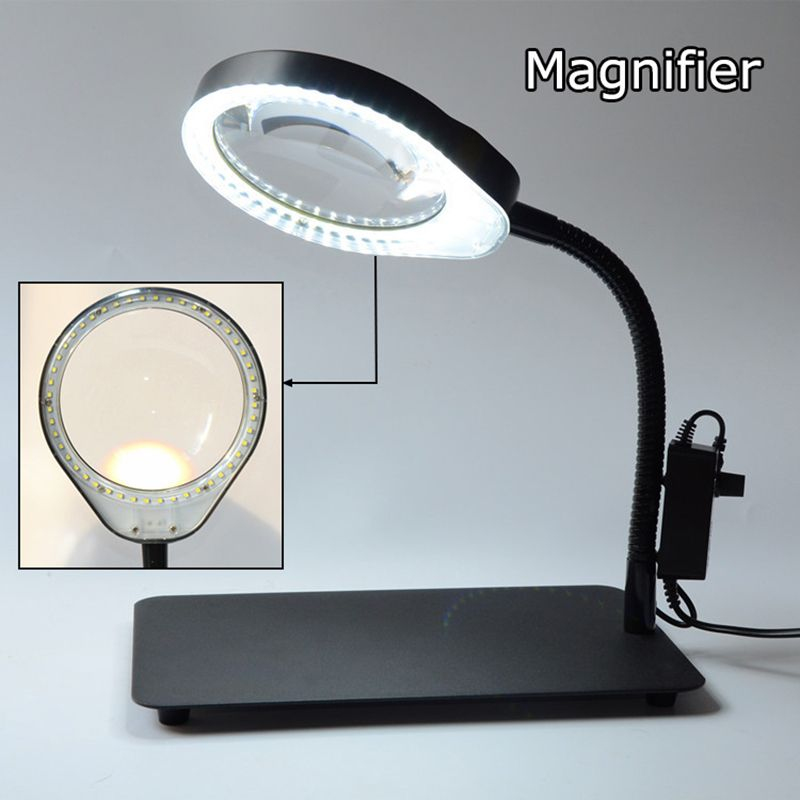 New upgrade multiple optional Desk magnifier lamp 8X 10X Maintenance reading Dimmable Illuminated magnifying glass