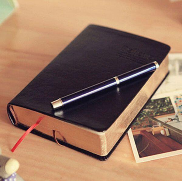 Vintage Épais Cahier de Papier Bloc-Notes En Cuir Journal Bible Livre Zakka Revues Planificateur Agenda Bureau de L'école Papeterie Fournitures