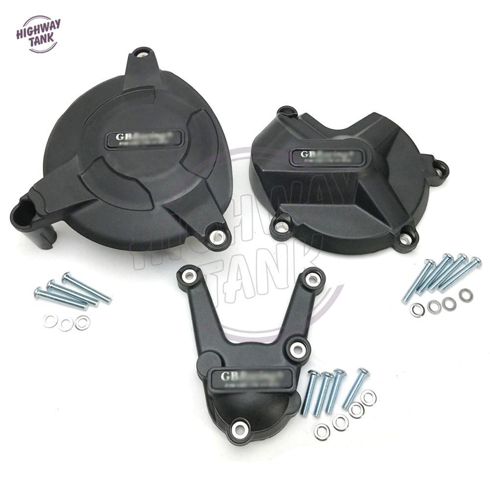 Schwarz Motorräder Sekundäre Motor Schutz Abdeckung Set Fall für GB Racing für BMW S1000RR S1000R 2009-2016