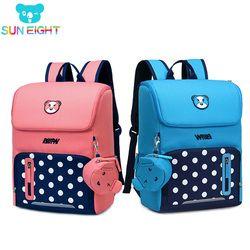 2018 ортопедический рюкзак для девочек школьные сумки на молнии детская школьная сумка милый детский Ранец школьная сумка для девочки детски...