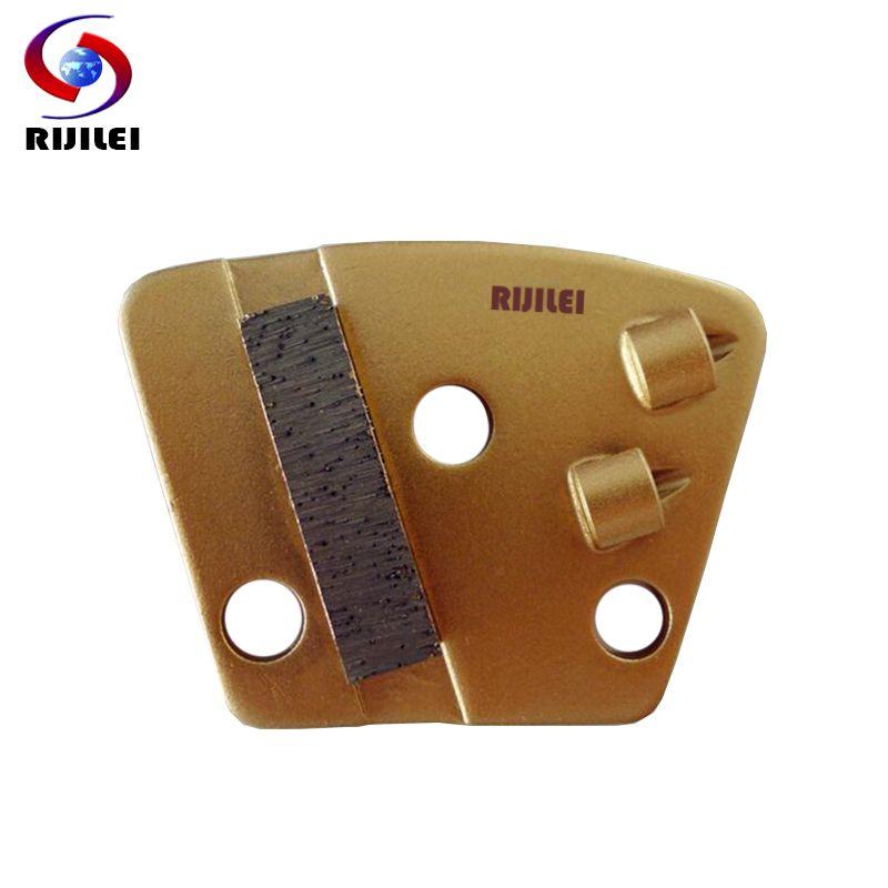 RIJILEI 12 Teile/los PCD Diamant Schleifscheibe Schleifen Block Platte für Entfernen Epoxy Kleber Farbe auf Betonboden PCD1