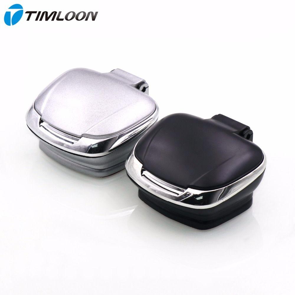 Cendrier à la mode en forme de coquille LED bleu clair à l'intérieur de la voiture avec Base amovible et ruban adhésif Double face