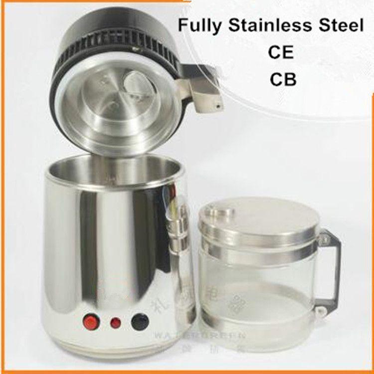 Distillateur d'eau pur 220 V purificateur d'eau filtre 750 W acier inoxydable distillateur d'eau Machine pour le bureau de laboratoire d'hôpital à domicile HA148