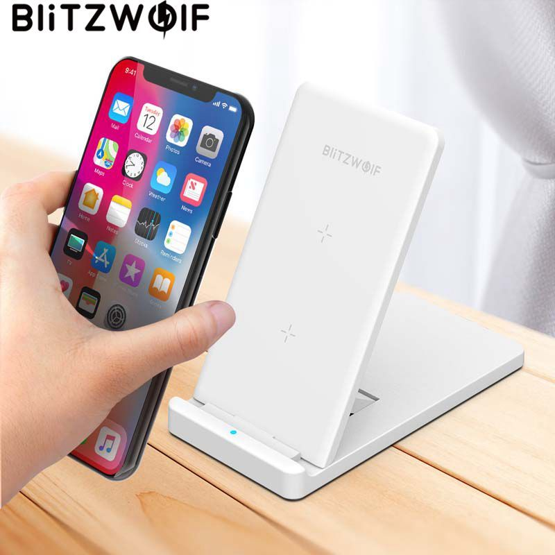 BlitzWolf 10W Qi Wireless Charger For iPhone X 8 Galaxy S9 S8 S7 S6 Edge Note 8 Phone Fast Wireless Charging Pad Docking Station