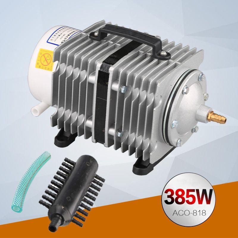 385W 450L/min SUNSUN ACO-818 Electromagnetic Aquarium Air Pump for Fish Tank Oxygen Air Pump Hydroponic Pond Air Compressor Pump