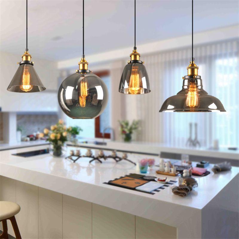 Vintage Retro Pendant Lights Glass Abajur Suspension Luminaire Loft Retro E27 Pendant Lamps Industrial Home Lighting Fixture