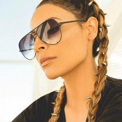 Mode flat top aviator lunettes Noir lunettes de soleil des femmes 2017 marque designer oculos aviador miroir shades lunettes de soleil femme