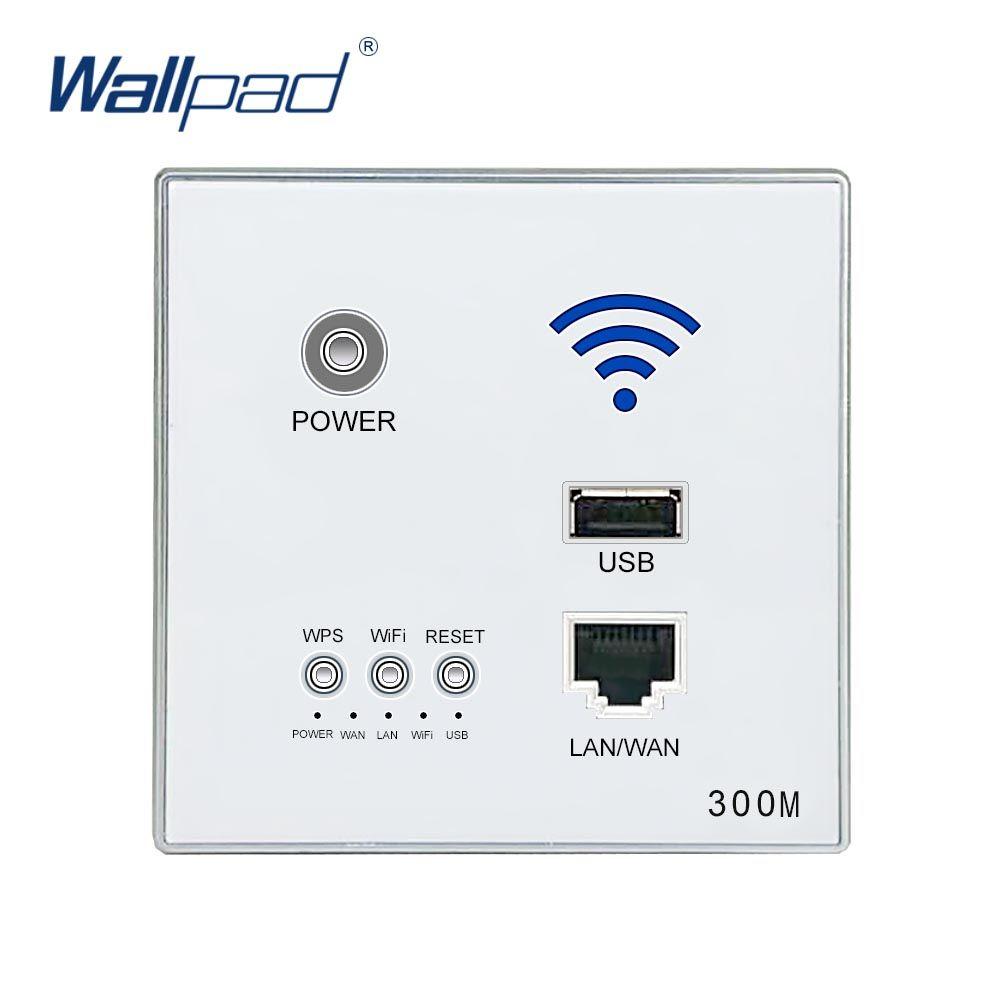 300 M Mur Intégré Sans Fil WIFI AP Routeur USB Mur Prise de courant Chargeur WiFi Prise Intelligente Électrique USB Prises Murales