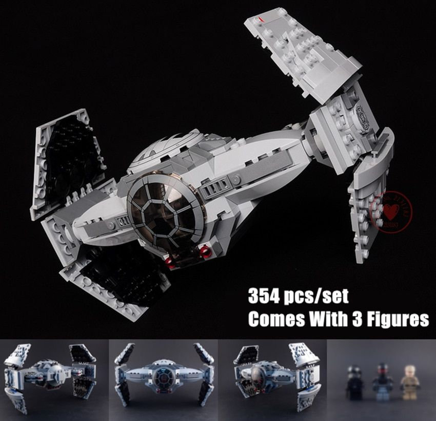 New Force Awakens TIE Advanced fit legoings star wars figures starwars fighter Building Blocks bricks 75082 kid gift diy Toy