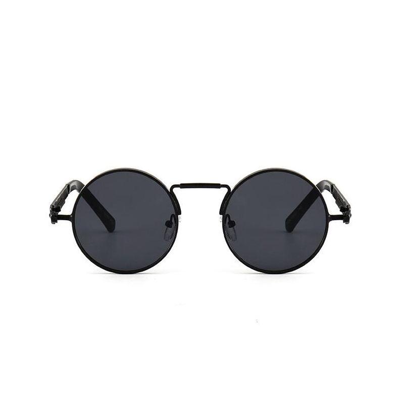 Cercle rond Steampunk lunettes de soleil hommes femmes Vintage rétro lunettes de soleil marque Design miroir lentille de luxe qualité lunettes UV400