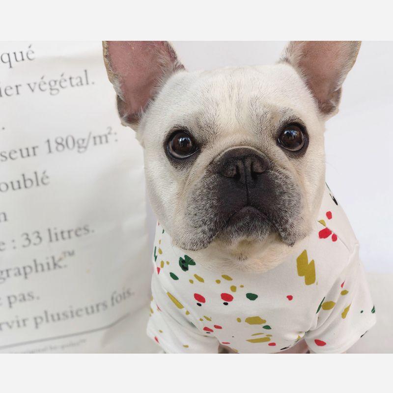 [MPK Shop] Mud Splash Hund T-shirt, hund Sommerkleidung, französisch Bulldog, mops, geeignet für Kleine Hunde, hund Casual Tragen