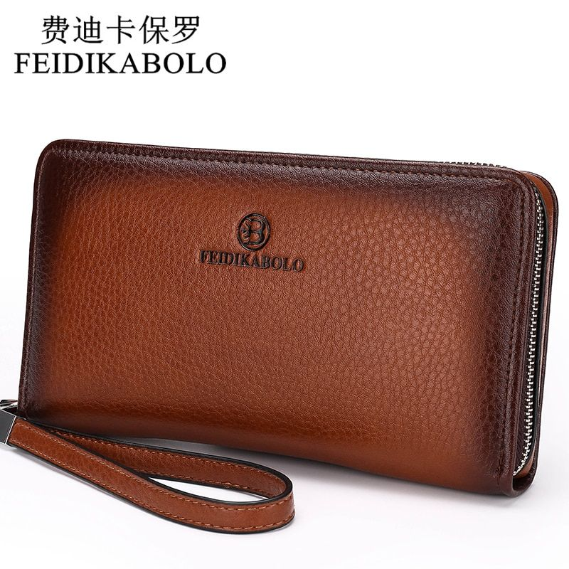 2018 Luxury Male Leather Purse Men's Clutch Wallets Handy Bags Business Carteras <font><b>Mujer</b></font> Wallets Men Black Brown Dollar Price