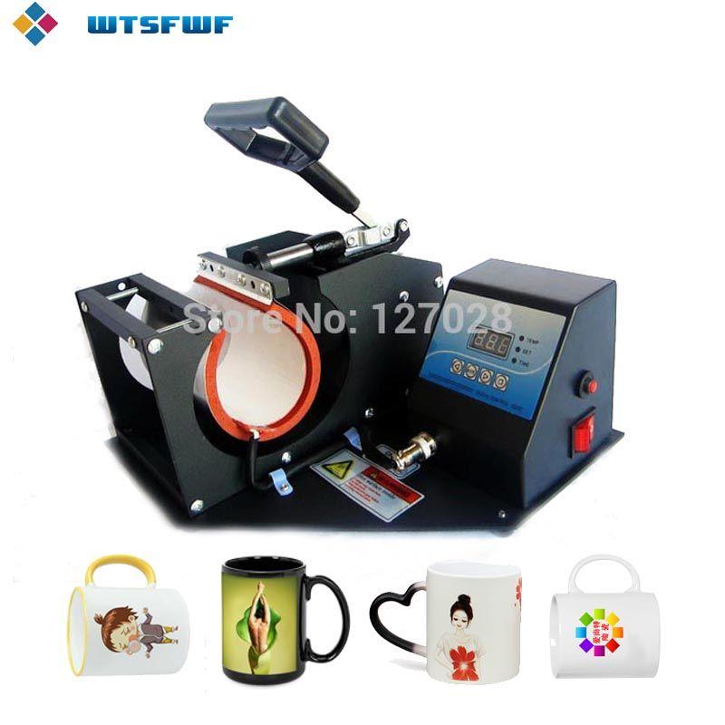 Livraison gratuite Wtsfwf Portable numérique tasse presse à chaud imprimante Machine 2D Sublimation transfert tasse imprimante Machine
