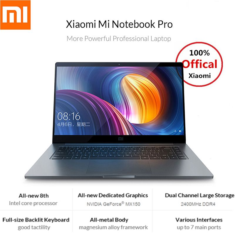 Xiao mi mi Notebook Pro 15,6 zoll 16:9 1920*1080 IPS 256 gb SSD Windows 10 Intel Core i5/ i7 Quad Core Laptop Fingerprint Dual WiFi