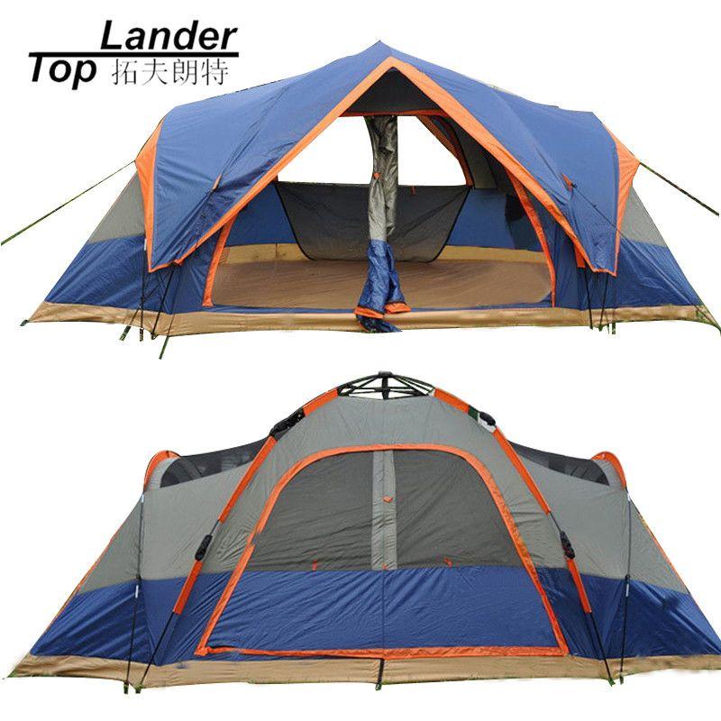 4 Saison Outdoor Automatische Zelt Camping 5-6 Personen Doppelschicht Familie Zelte Wasserdicht Strand Großen Zelt Automatische