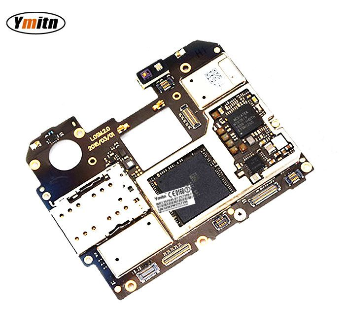 Ymitn Unlocked Mobile Electronic Panel Mainboard Motherboard Circuits Flex Cable With Firmware For Meizu Pro 6 Pro6 32GB/64GB