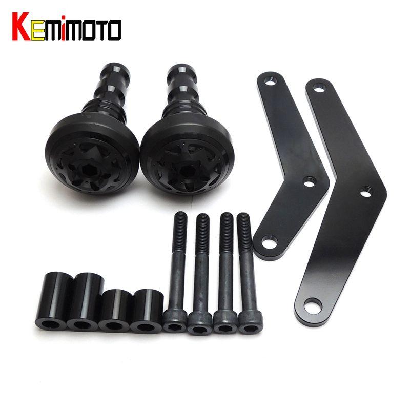 KEMiMOTO For Yamaha YZF R25 R3 YZF-R3 YZF-R25 2014 2015 2016 2017 MT-03 MT03 MT25 2015- Moto Crash Pads Frame Protector Sliders