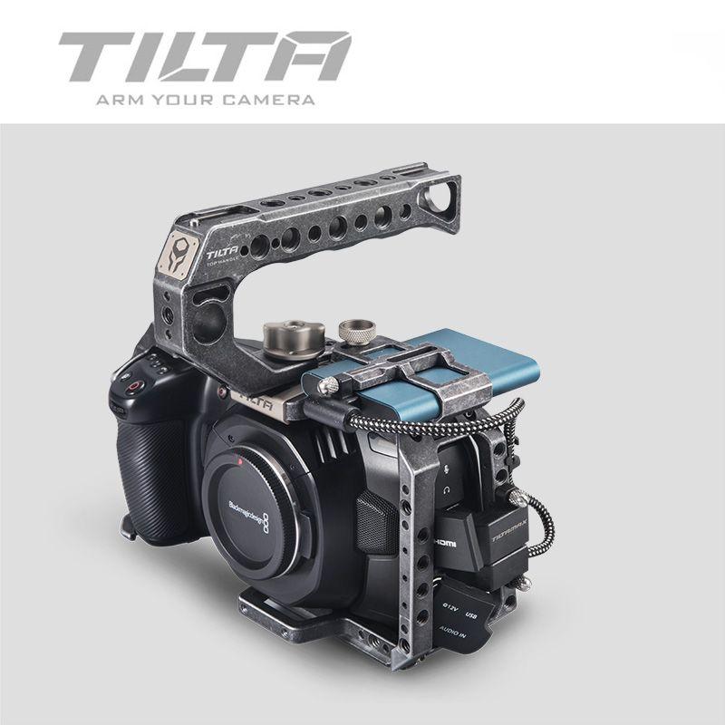 Tilta BMPCC 4K 6K Käfig TA-T01-B Volle Käfig Taktische Fininshed ODER Grau SSD Stick Halter Top Griff für blackMagic BMPCC 4K 6K