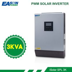 EASUN POWER Solar Inverter 3KVA 24V 220V Hybrid Inverter Pure Sine Wave Built-in 50A PWM Solar Charge Controller Battery Charger