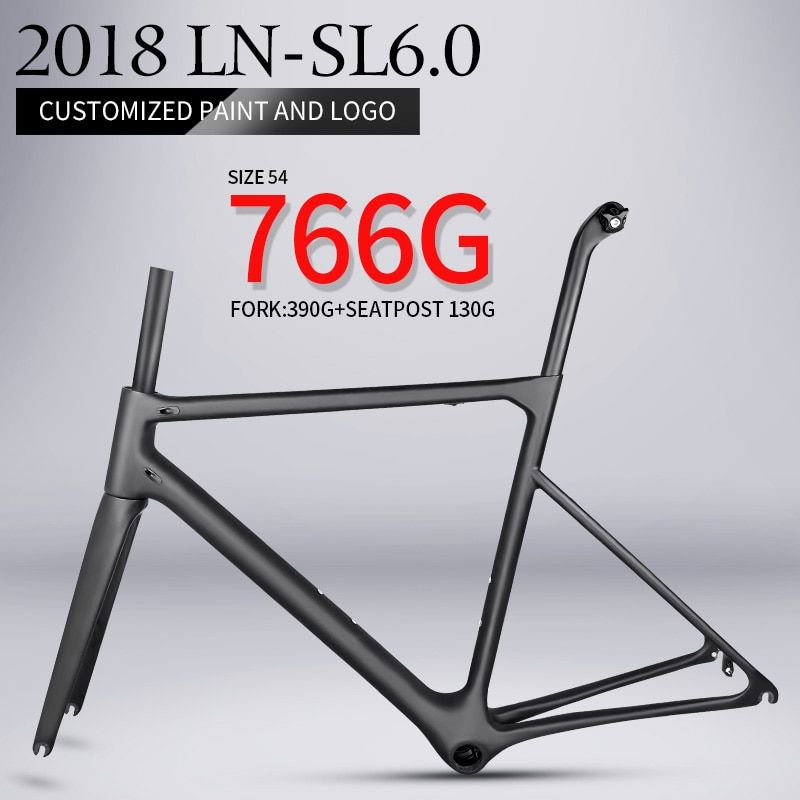 2018 T1000 only 766g super light aero carbon road bike frame Chinese high quality light weight carbon fibre bicycle frame