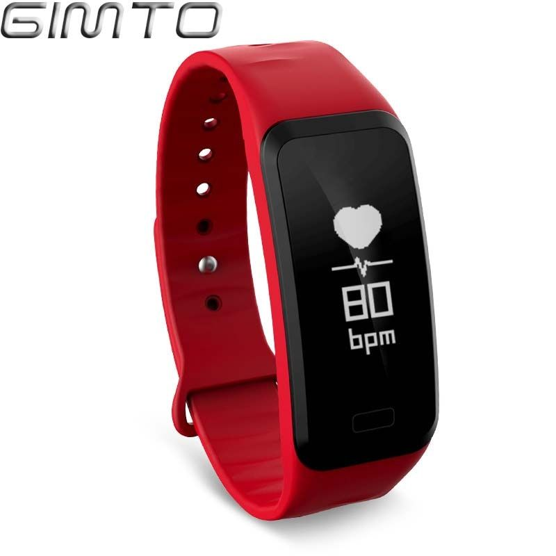 Smart Armband Uhr GIMTO blutdruck herz rate monitor Blut sauerstoff männer Uhr für IOS Android Smart Uhr schrittzähler Uhr