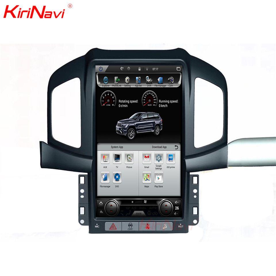 KiriNavi Vertical Screen Tesla Style Android 6.0 13.6 Inch Car multimedia Player Car GPS Navigation Fit for Chevrolet Captiva 4g