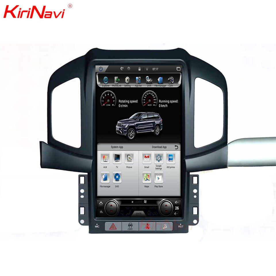 KiriNavi Vertikale Bildschirm Tesla Stil Android 6.0 13,6 Zoll Auto multimedia-Player Auto GPS Navigation Fit für Chevrolet Captiva 4g
