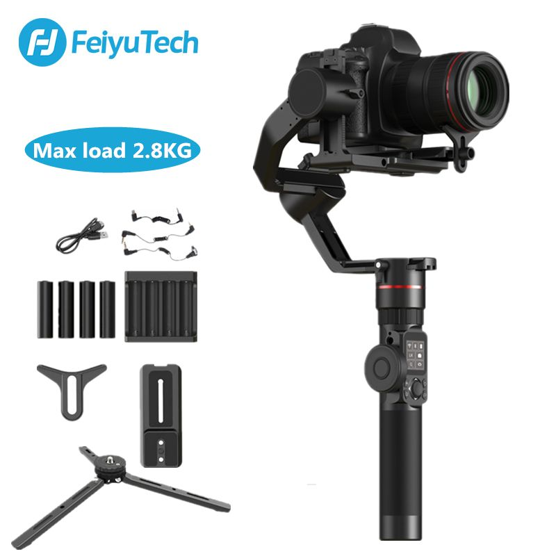 FeiyuTech Feiyu AK2000 3-Axis Camera Stabilizer Gimbal for Sony Canon 5D Panasonic GH5 Nikon 2.8 kg Payload