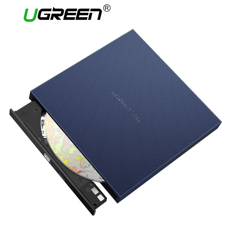 Ugreen USB Optical Drive External USB 2.0 CD/DVD-ROM Combo DVD RW ROM Burner for Dell Lenovo Laptop Windows/Mac OS USB DVD Drive