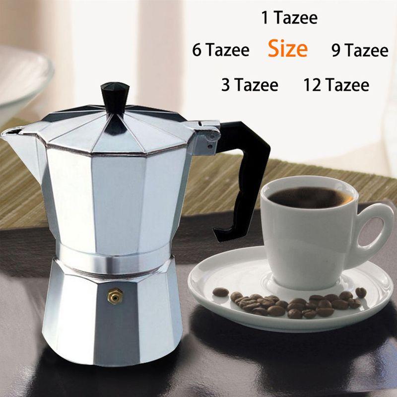 Glantop Aluminum 1cup/3cup/6cup/9cup/12cup Italian Stove top/Moka espresso coffee maker/Percolator pot tool free shipping