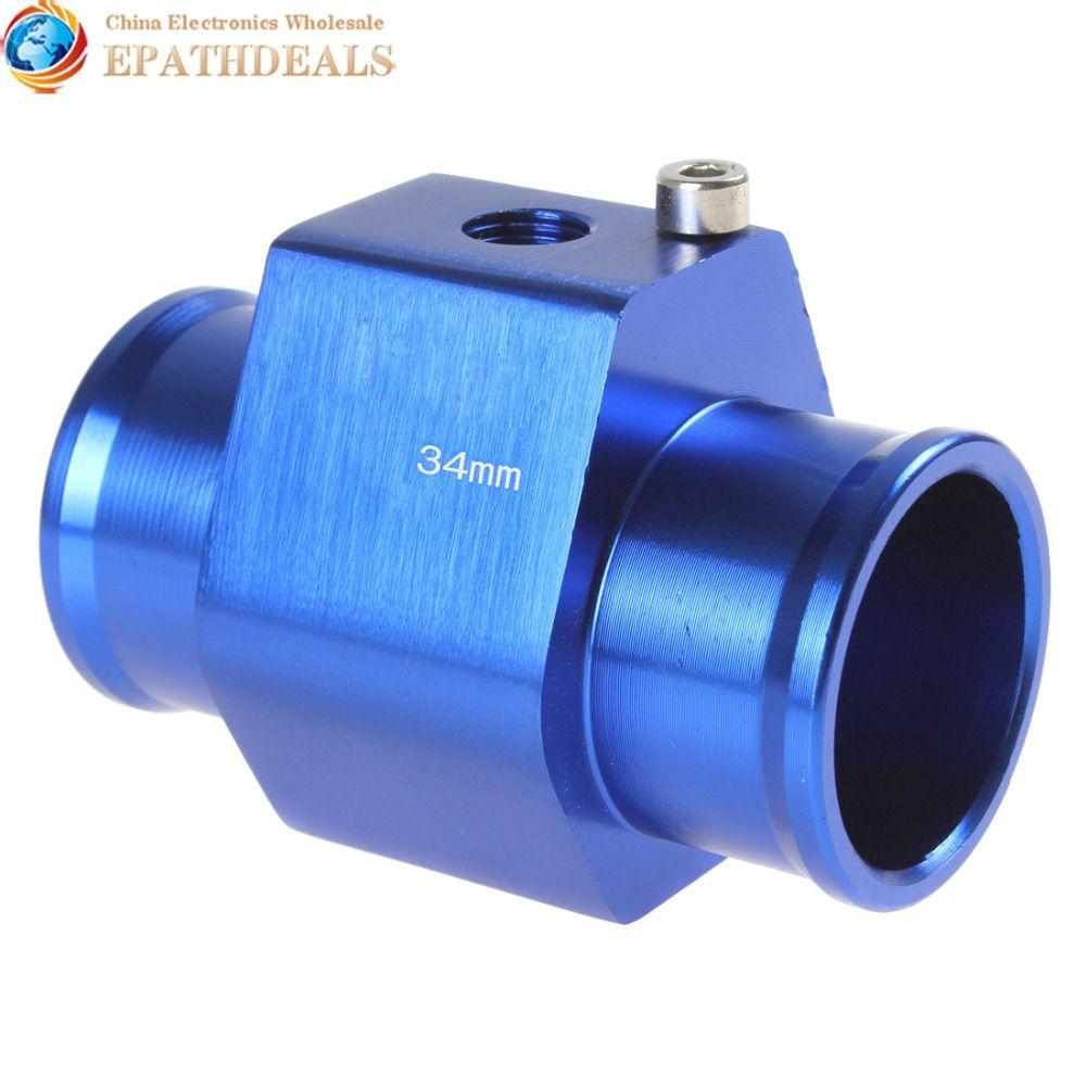 34mm Aluminium Water Temperature Temp Sensor Guage Adapter Meter with Clamps for Auto Car