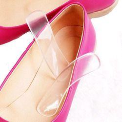 1 пара, женские модные силиконовые гелевая Подушечка для пяток, протекторы, туфли на высоком каблуке, вставка стельки 10 см * 2,2 см, Прямая дост...