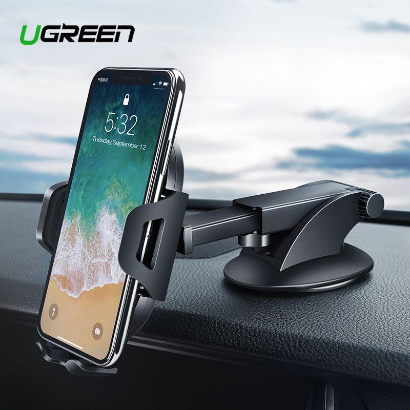 Ugreen Auto Telefon Halter für iPhone XS Samsung S9 Plus Saugnapf Halter für Telefon in Auto 360 Rotation Mobile telefon Halter Stehen