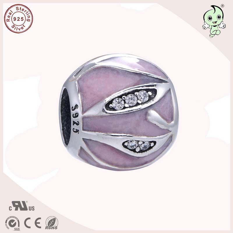 Высокое качество Европы и Америки Известный бренд Серебряные ювелирные изделия Лето соединения прекрасный розовый эмаль 925 натуральная се...