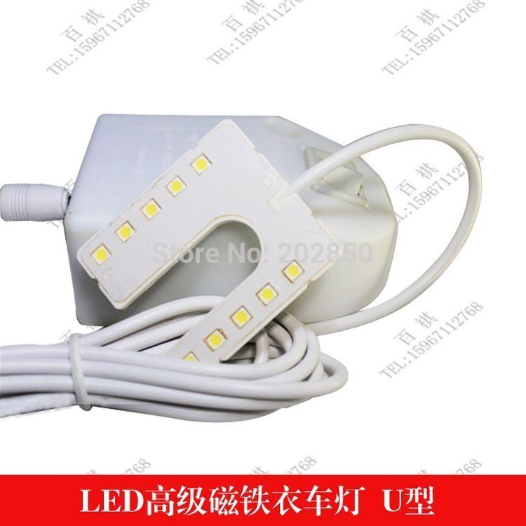 Machine À Coudre industrielle Lampe En Forme De U, également Avec U Forme Plug & Magnétisme Base, 10 Pcs Led, Compatible Avec De Nombreux Machines