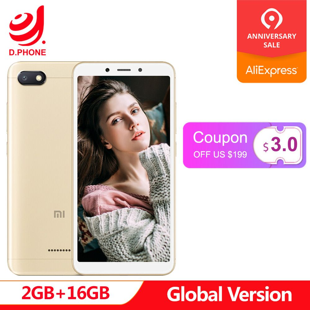 Global Version Xiaomi Redmi 6A 2GB 16GB 5.45